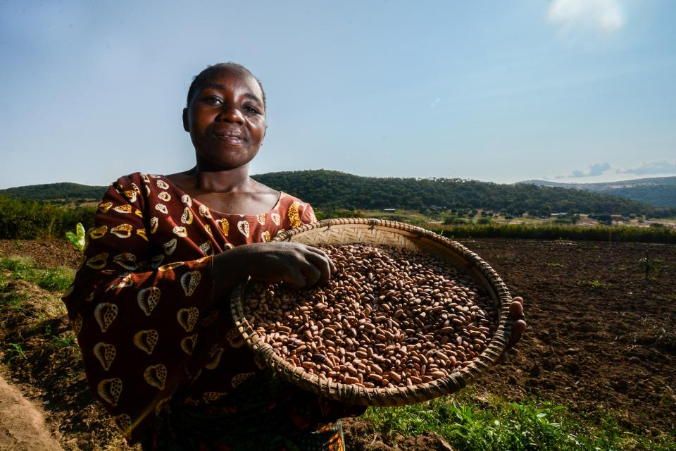Photo of woman with beans