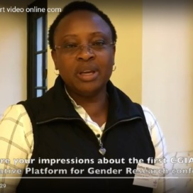 Esther Njuguna-Mungai interviewed during the annual scientific conference of the CGIAR Collaborative Platform for Gender Research