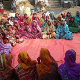 Women participating in a Nutrition event organized by self-help groups (photo credit: A. Arrieta / IFPRI)