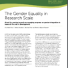 The Gender Equality in Research Scale