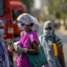 City health workers at a checkpoint in Mumbai during India's current coronavirus lockdown.